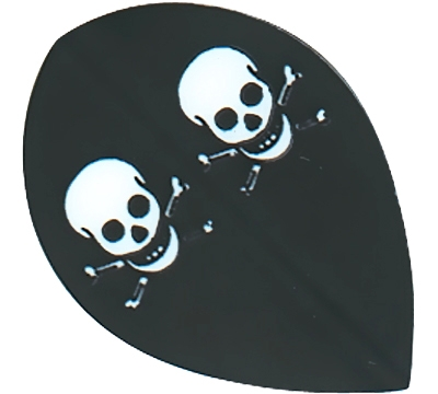 Skull & Crossbones Hard Poly Pear Flight