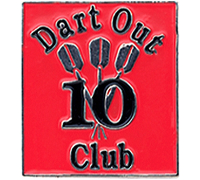 10 Dart Out Club Pin
