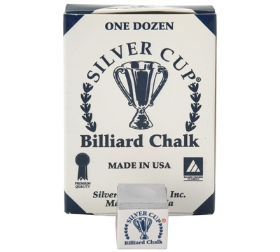 Pewter Silver Cup Billiard Chalk – Box/12