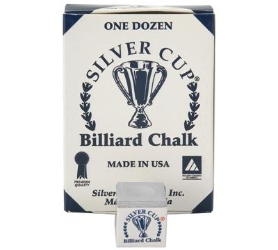 Pewter Silver Cup Billiard Chalk – Box/12