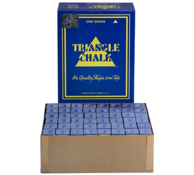 Blue Triangle Billiard Chalk – Box/144