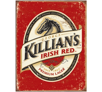 Killian's Irish Red Metal Sign
