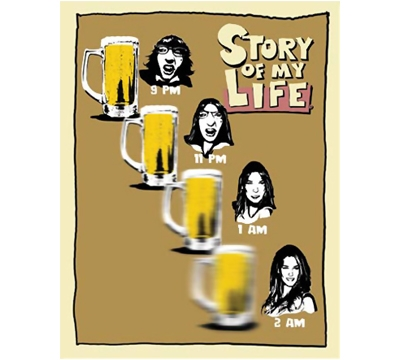 Story of my Life Metal Sign