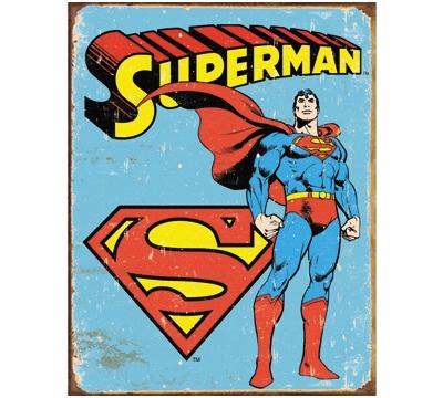 Superman Retro Metal Sign