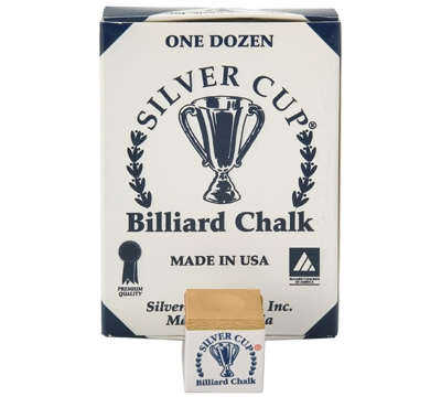 Copper Silver Cup Billiard Chalk – Box/12