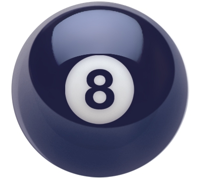 Oversized Belgian Aramith 8-Ball