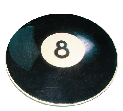 Ceramic 8-Ball Auto Coaster