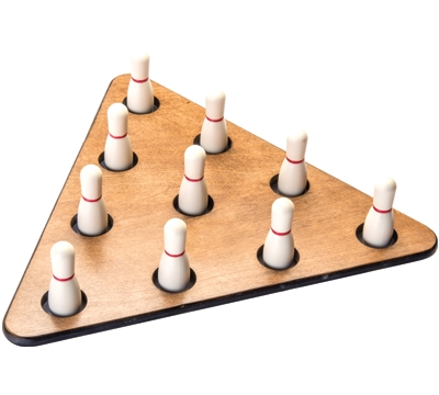 Shuffleboard Bowling Pin Triangle Set