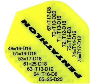 Pentathlon Poly Standard Flight - Neon Yellow