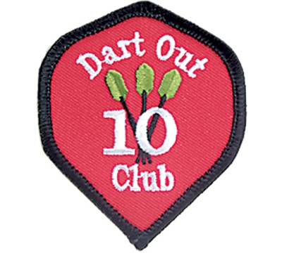 10 Dart Out Club Patch