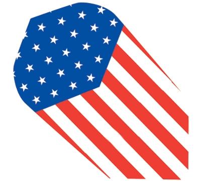 US Flag Hard Poly Slim Flight