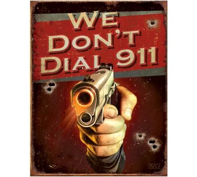 911 Metal Sign