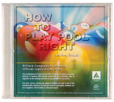 "Billiard Congress of America's ""How to Play Pool Right"" DVD"