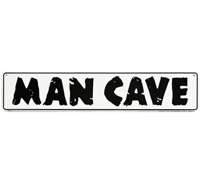 Embossed Metal Man Cave Sign