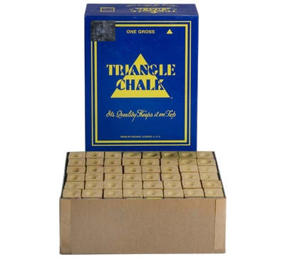 Gold Triangle Billiard Chalk – Box/144