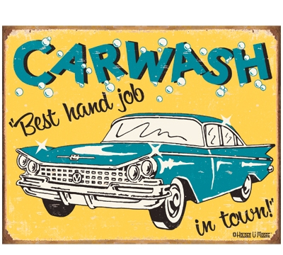 Carwash Metal Sign