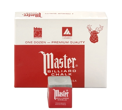 Grey Master Billiard Chalk – Box/12