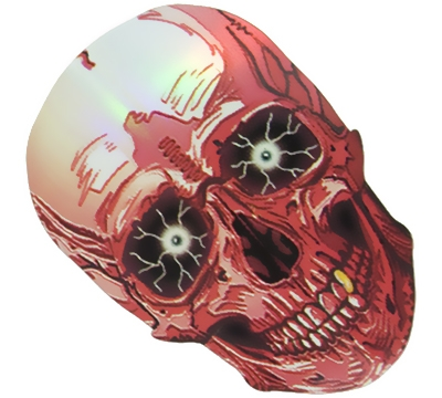 Pink Skull/White Eyes 2D/3D Slim Flight