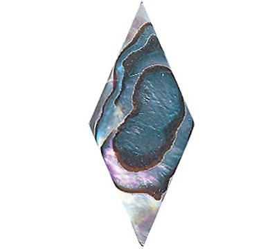 "Abalone Diamond, 1  1/4"" x 9/16"""