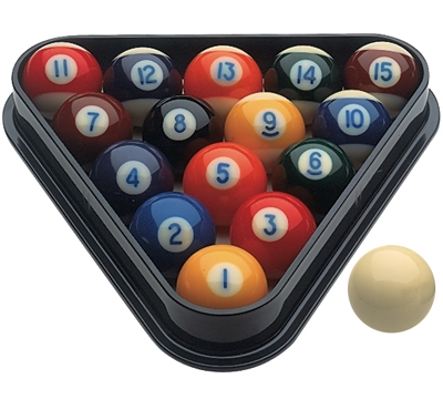 "Miniature 1 1/2"" Pool Ball Set"