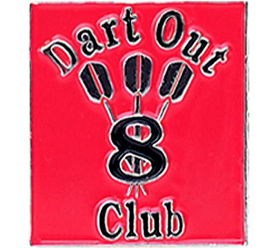 8 Dart Out Club Pin
