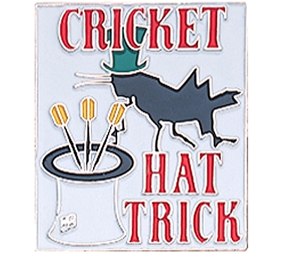 Cricket Hat Trick Pin