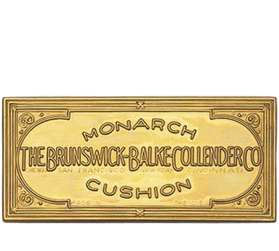 Solid Brass Brunswick Rail Plate 1892-1916