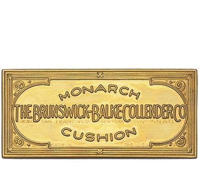 Solid Brass Brunswick Rail Plate 1892-1916