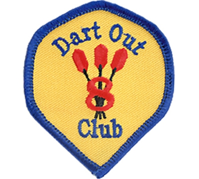8 Dart Out Club Patch