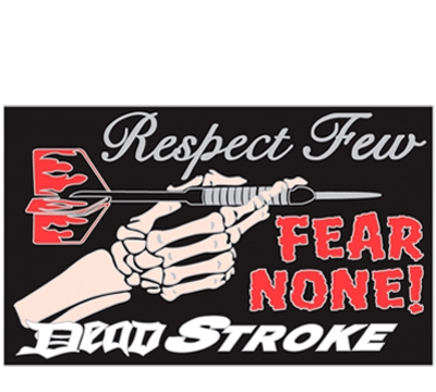Respect Few Dead Stroke Dart Pin