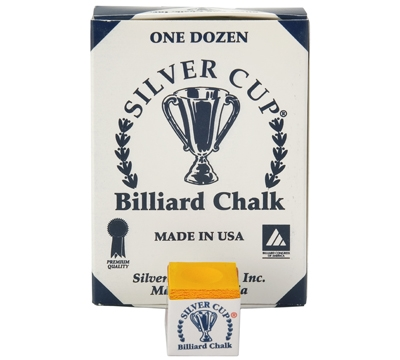 Orange Silver Cup Billiard Chalk – Box/12