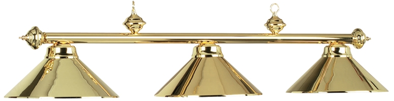 Polished Brass Light W/3 Shades