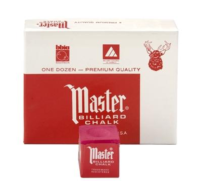 Red Master Billiard Chalk – Box/12