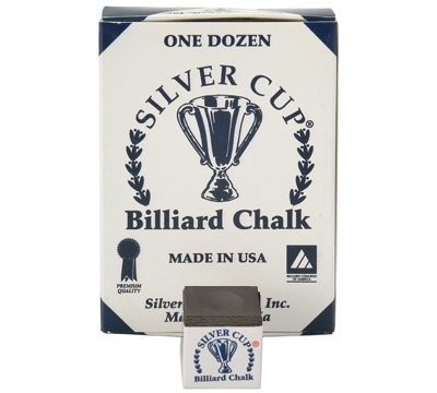 Black Silver Cup Billiard Chalk – Box/12