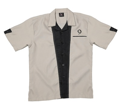 RT9 Men's Khaki Bowling Retro Shirt