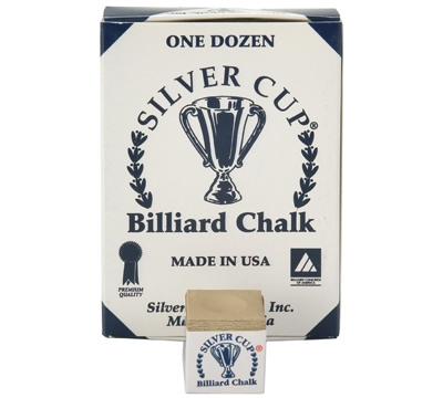 Brown Silver Cup Billiard Chalk – Box/12