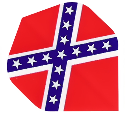 Confederate Rebel Flag Hard Poly Flight