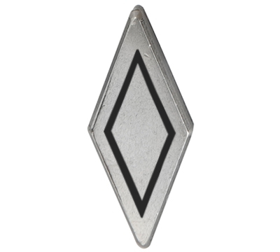 METAL DIAMOND ANTIQUE SILVER