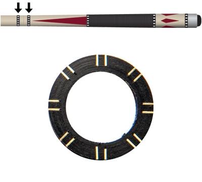 Black/Brass 8-Pair Dash Shaft/Joint Ring