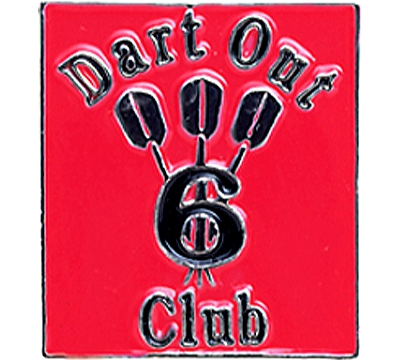 6 Dart Out Club Pin