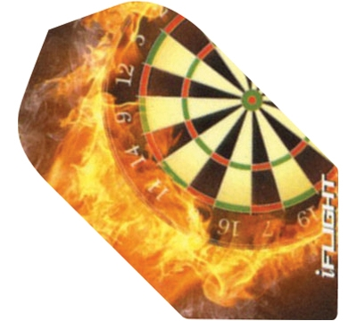 i-Flight Flaming Dartboard Slim Flight