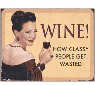 Wine Metal Sign