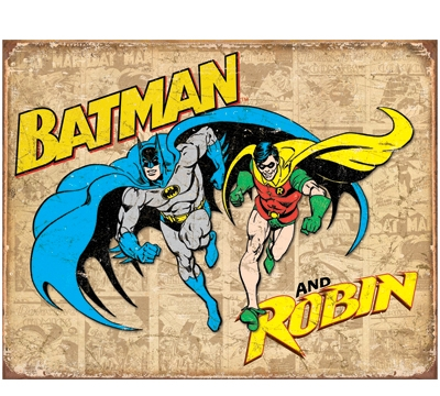 Batman & Robin Retro Metal Sign
