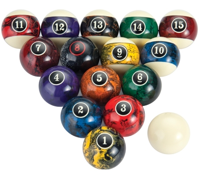 Marble Pool Ball Set