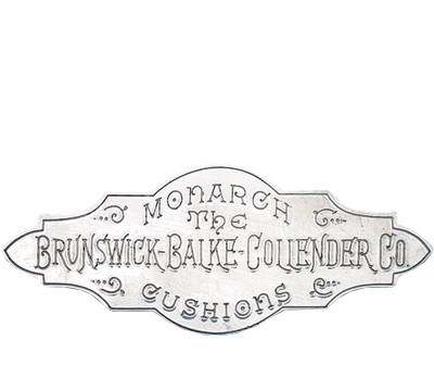 White Metal Brunswick Rail Plate 1884-1906