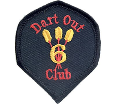 6 Dart Out Club Patch