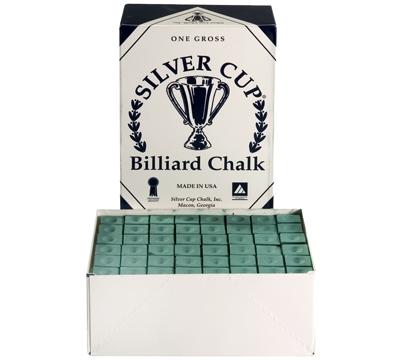 Green Silver Cup Billiard Chalk – Box/144