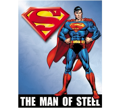 Man Of Steel Metal Sign