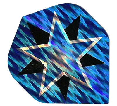Blue/Silver/Black Star 2D/3D Flight