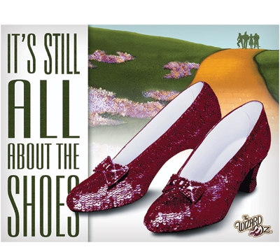 All About The Shoes Metal Sign